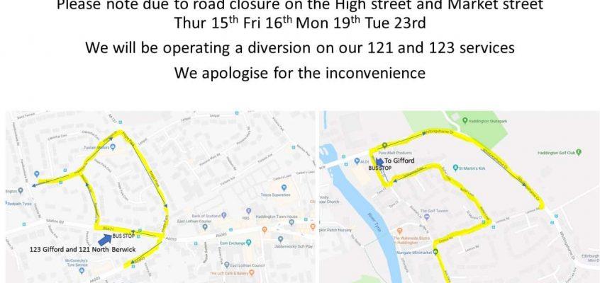 Haddington Road Closure
