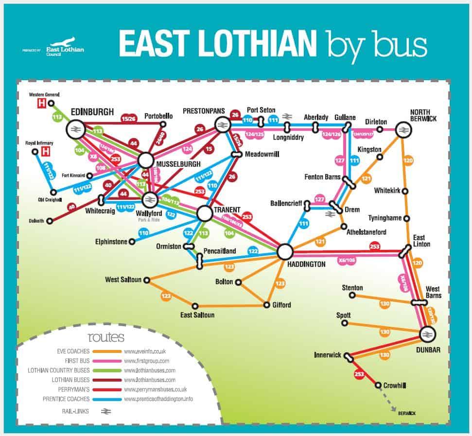 Lothian Bus Map EL Bus Map   Eve Coaches Ltd Lothian Bus Map